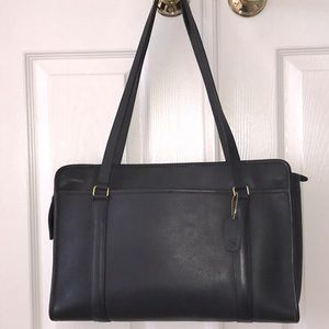 Vintage 1990 Coach Leather Zipper Satchel Unused!